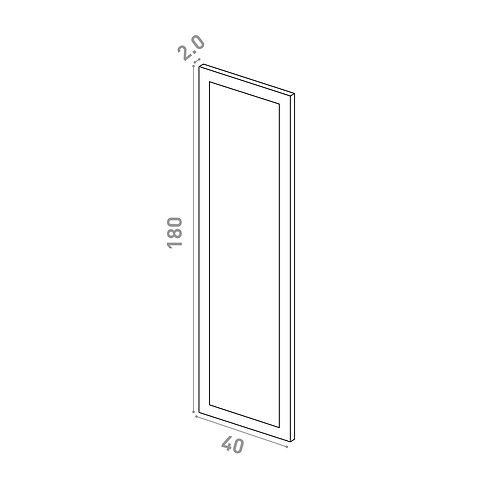 Porte 40x180cm | design cadre | laque mate