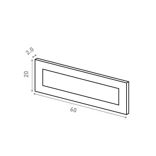 Tiroir 60X20cm   design cadre   laque mate