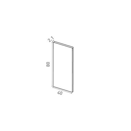 Porte 40X80cm | design U shape | chêne naturel