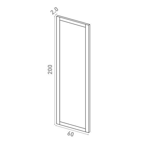 Porte 60X200cm   design cadre   chêne peint