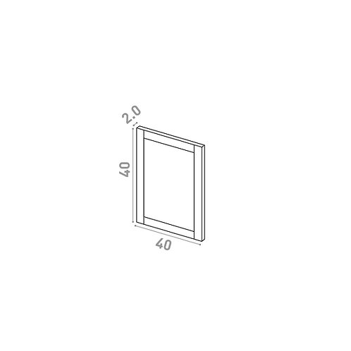 Porte 40X40cm | design cadre | chêne peint