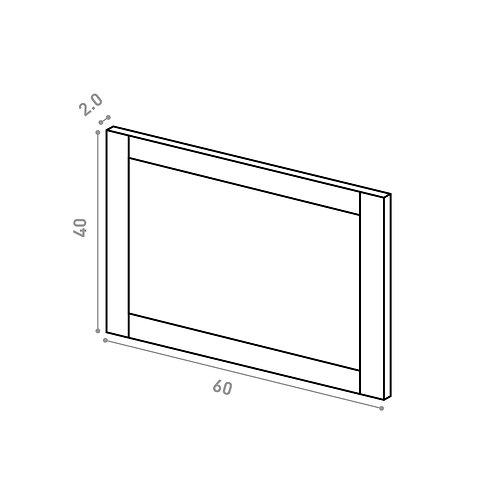 Tiroir ou porte horizontale 60X40cm | design cadre | chêne peint