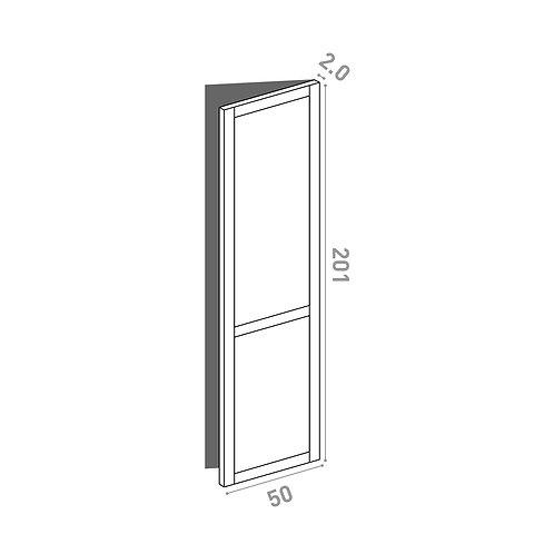 Porte 50x201cm - charnières à droite  | design cadre | chêne peint
