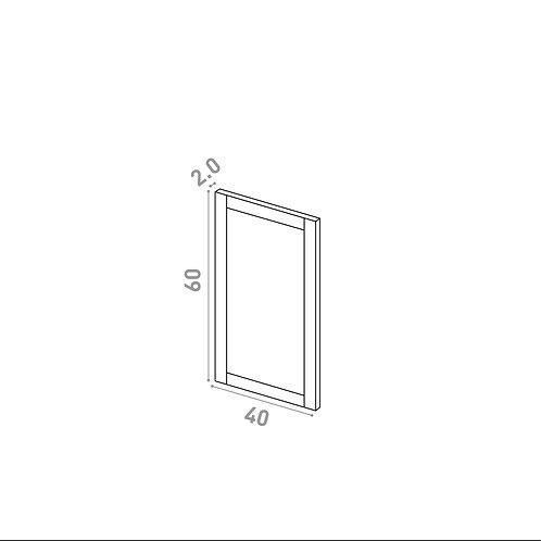 Porte 40X60cm | design cadre | chêne peint