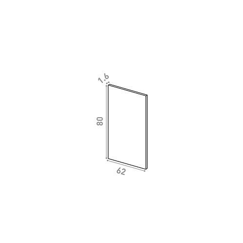 Panneau de finition 62X80cm | design lisse | chêne naturel
