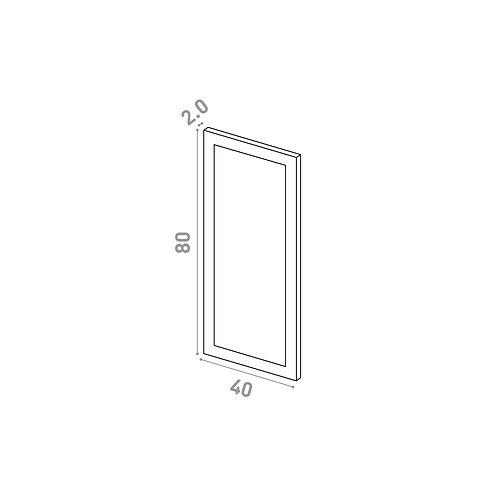 Porte 40X80cm | design cadre | laque mate