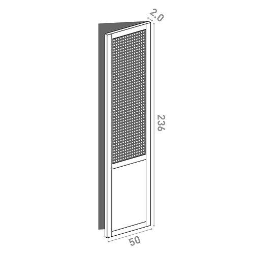 Porte 50x236cm - charnières à droite  | design cannage | chêne peint