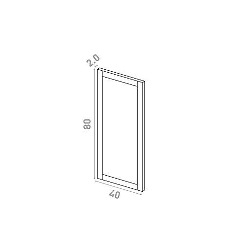 Porte 40X80cm | design cadre | chêne peint