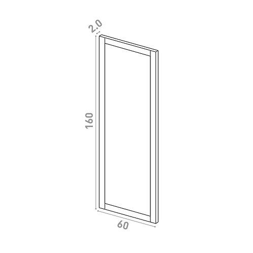 Porte 60X160cm | design cadre | chêne peint