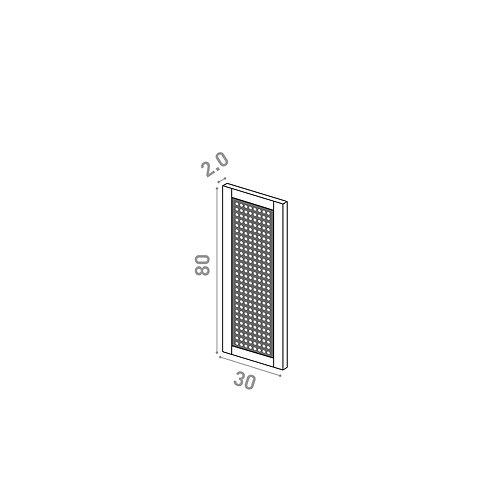 Porte 30x80cm | design cannage | chêne peint