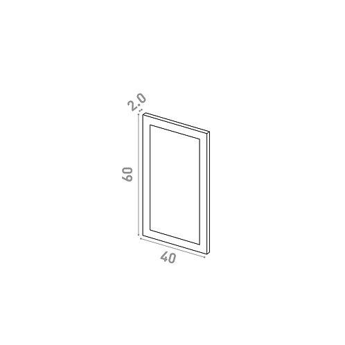 Porte 40X60cm   design cadre   laque mate