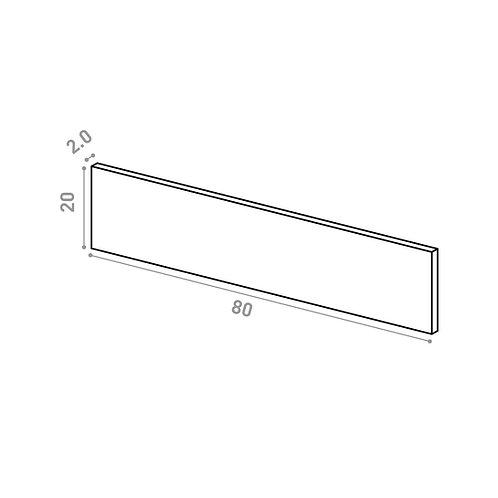 Tiroir 80X20cm | design lisse | laque mate