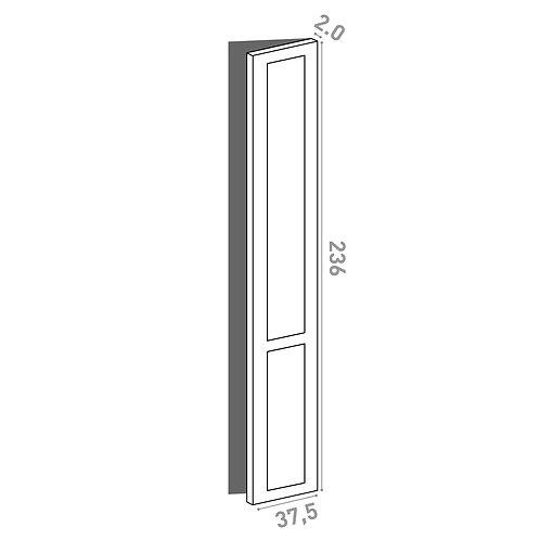 Porte 37.5x236cm - charnières à droite | design cadre | laque mate