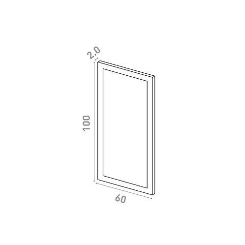 Porte 60X100cm | design cadre | laque mate