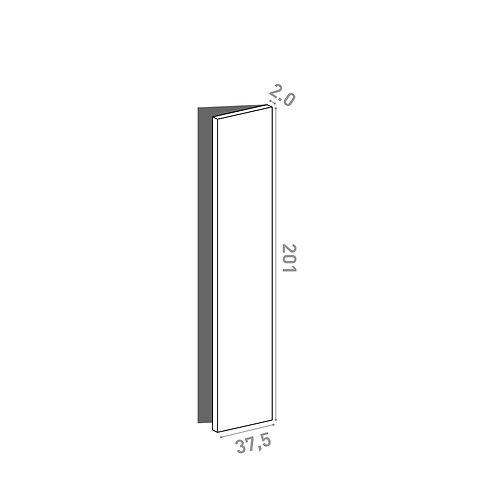 Porte 37.5x201cm - charnières à droite  | design lisse | chêne naturel