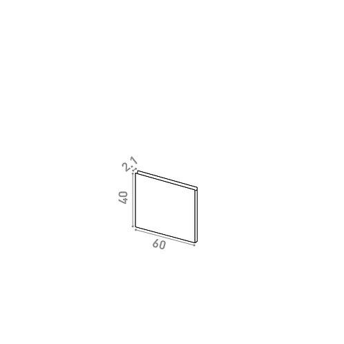 Porte 60X40cm | design U shape | chêne naturel