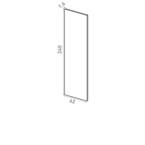 Panneau de finition 62X240cm | design lisse | noyer naturel
