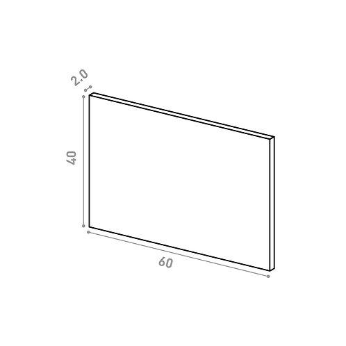 Tiroir 60X40cm | design lisse | laque mate (ou porte à ouv. vers le haut)