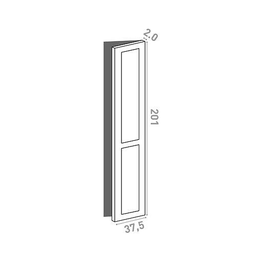 Porte 37.5x201cm - charnières à droite  | design cadre | laque mate