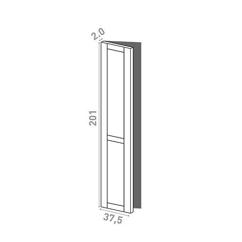 Porte 37.5x201cm - charnières à gauche | design cadre | chêne peint