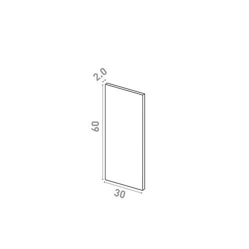 Porte 30X60cm | design lisse | chêne naturel
