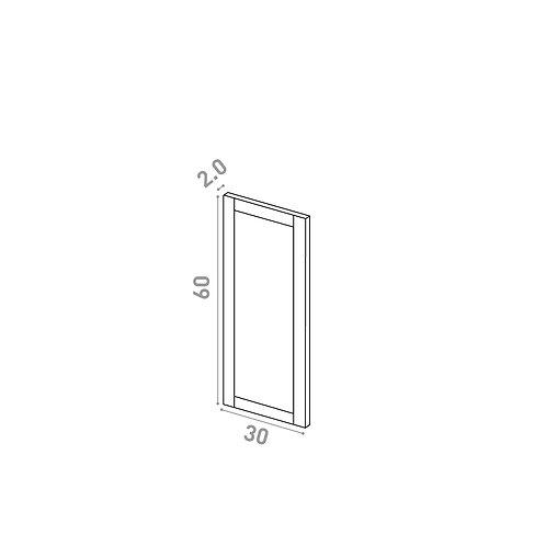 Porte 30X60cm   design cadre   chêne peint