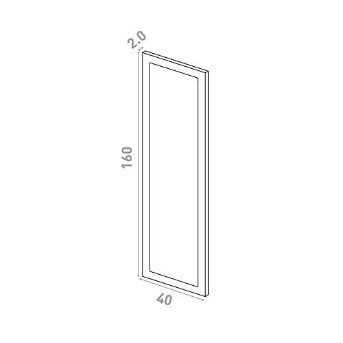 Porte 40x160cm | design cadre | laque mate