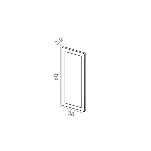 Porte 30X60cm | design cadre | laque mate