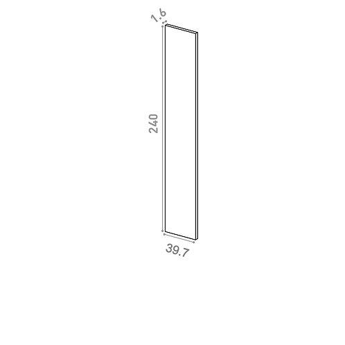 Panneau de finition 39X240cm | design lisse | laque mate