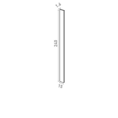 Panneau de finition 15x240cm | design lisse | noyer naturel