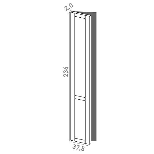 Porte 37.5x236cm - charnières à gauche | design cadre | chêne peint