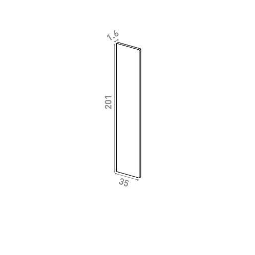 Panneau de finition 35x201cm | design lisse | noyer naturel