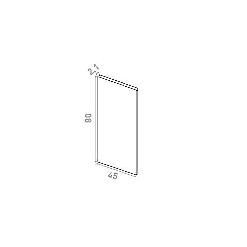 Porte lave-vaisselle 45X80cm | design U shape | noyer naturel