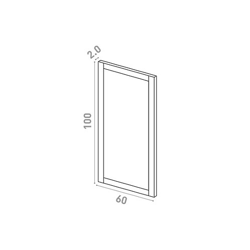 Porte 60X100cm | design cadre | chêne peint