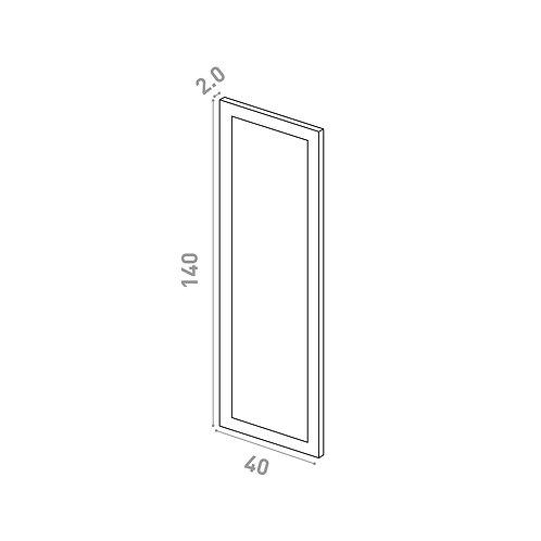 Porte 40X140cm | design cadre | laque mate