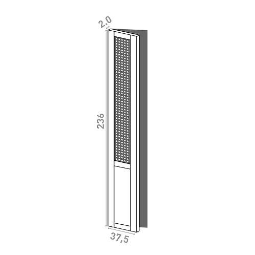 Porte 37.5x236cm - charnières à gauche | design cannage | chêne peint