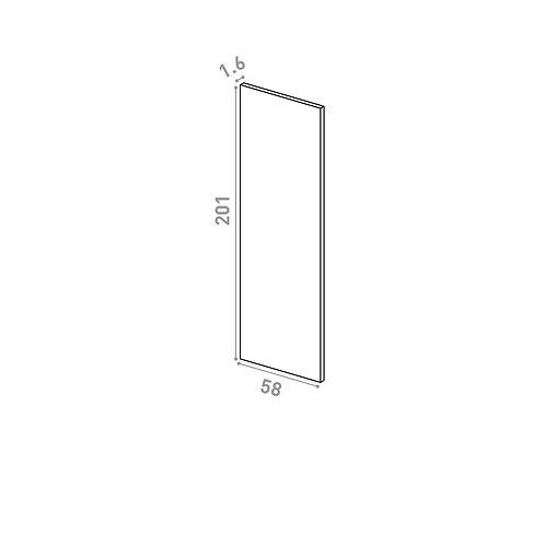 Panneau de finition 58x201cm | design lisse | noyer naturel