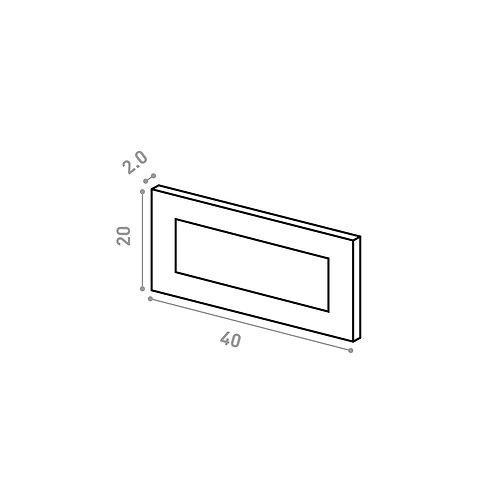 Tiroir 40X20cm | design cadre | laque mate