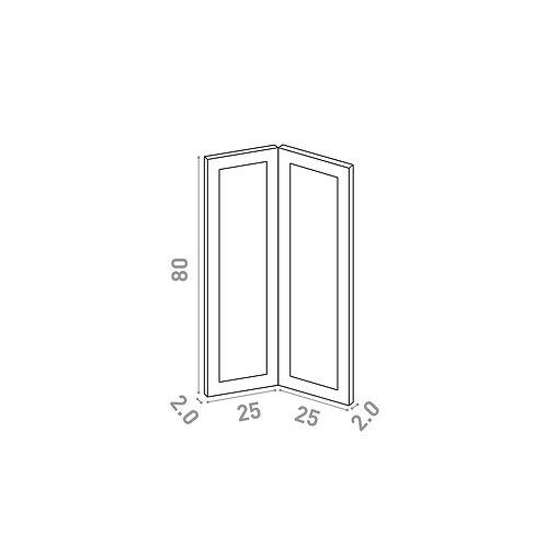 Porte d'angle 25x80cm | design cadre | laque mate