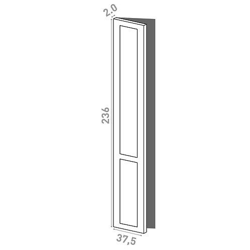 Porte 37.5x236cm - charnières à gauche | design cadre | laque mate