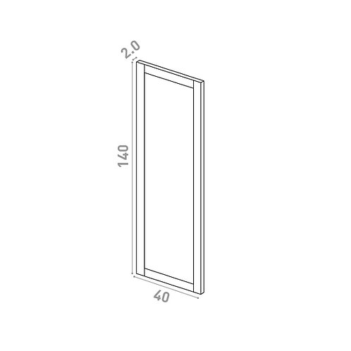 Porte 40X140cm | design cadre | chêne peint
