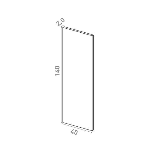 Porte 40X140cm | design lisse | chêne naturel