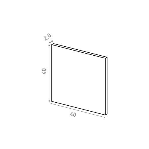 Tiroir ou porte horizontale 40X40cm | design lisse | chêne naturel