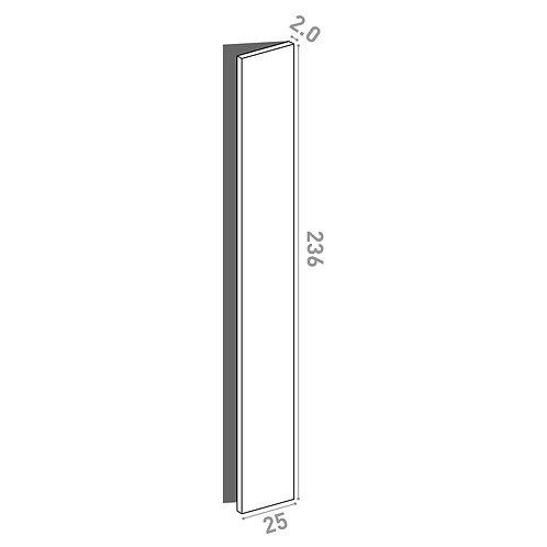 Porte 25x236cm - charnières à droite  | design lisse | noyer naturel