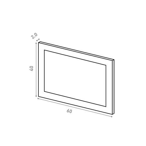 Tiroir 60X40cm | design cadre | laque mate (ou porte à ouv. vers le haut)