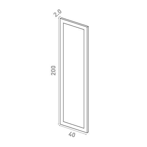 Porte 40X200cm | design cadre | laque mate