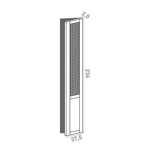 Porte 37.5x236cm - charnières à droite  | design cannage | chêne peint