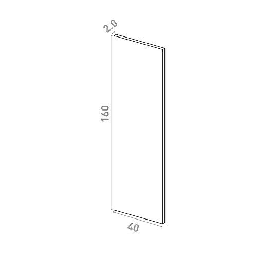 Porte 40x160cm | design lisse | noyer naturel