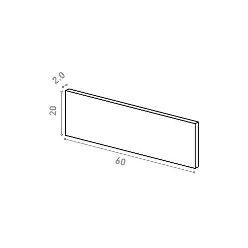 Tiroir 60X20cm | design lisse | chêne naturel