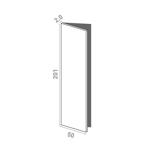 Porte 50x201cm - charnières à gauche | design lisse | chêne peint